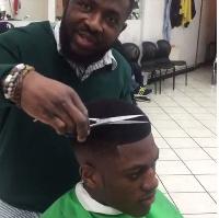 Sharaf gets a haircut