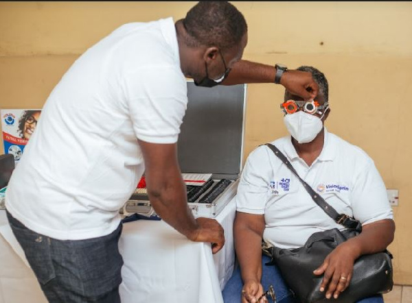 Nima residents benefit from free eye screening exercise by NGO