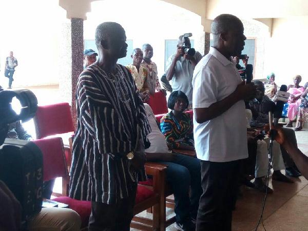 Vice President, Paa Kwesi Bekoe Amissah-Arthur at the palace of the Sunyani Chief.