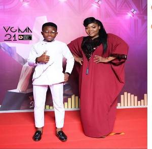 Celestine Donkor and Nhyira Gideon won Gospel Song of the Year with their song 'Agbebolo'