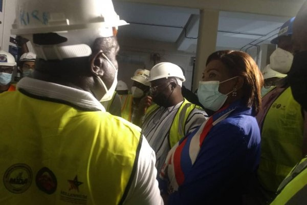 Veep inspects progress of work on Pokuase Bulk Supply Point
