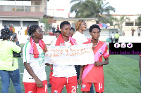 The players dedicated the victory to coach Mercy Tagoe