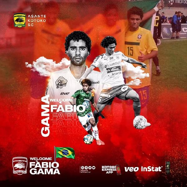 Kotoko's Brazilian midfielder Fabio Gama to arrive in Ghana on Friday