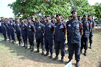 Police officers in parade (File photo)