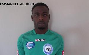 Aduana Stars centre back Emmanuel Akuoko