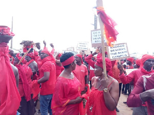 This is a file photo of a previous demonstration held in Ghana