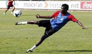 Thomas Partey plays for Atletico Madrid