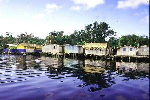 Nzulezu is located in the Western Region
