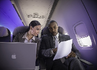 Delta Airline offers WIFI for customers between Africa and United States.