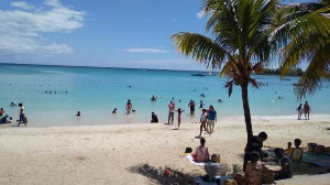 Pereybere beach is a popular draw for locals and tourists (BBC)
