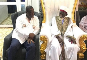 Roads and Highways Minister Kwasi Amoako-Atta with the Chief Imam