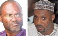 Kennedy Agyapong, Assin Central MP (l) and Muntaka Mubarak, Minority Chief Whip (r)