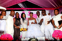 Celebrities at Selly and Cartel Big J wedding