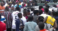 Angry Hearts of Oak supporters