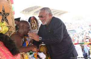 President Nana Addo Dankwa Akufo-Addo with the late JJ Rawlings