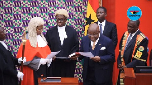 Prof Mike Oquaye is billed to be sworn in on Saturday to act as president for the second time