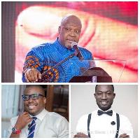 Sefa Kayi, Adom Otchere and Ohene Bampoe Brenya are three of a 5-member media committee