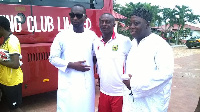 Afro Arab Group of Companies CEO Alhaji Salamu on the left
