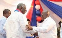 President Akufo-Addo with John Agyekum Kufuor