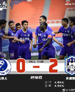 Frank Acheampong powers Tianjin Teda to victory with his brace against Dalian Pro