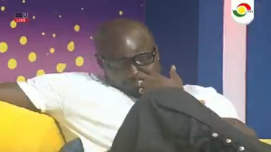 Former Black Stars captain, Stephen Appiah in tears