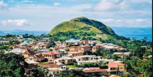 Amedzofe is the highest human settlement in Ghana with altitude 677 metres above sea level