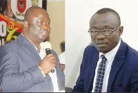 Maxwell Blagodzi, Deputy Minister of Oti Region and Mr Emmanuel Asore Avoka, dce for Garu both lost