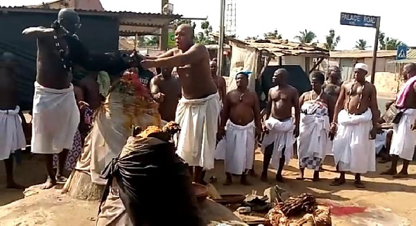 Aflao Traditional Council offers sacrifices to stop coronavirus