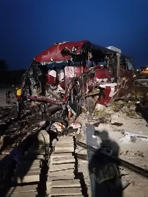 The crash was between two VIPs on the Accra-Kumasi highway