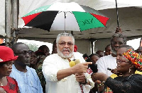 Former President Rawlings addressed the gathering at the event (file photo)