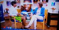 Tove Degnbol, Danish Ambassador to Ghana with host Harriet Nartey