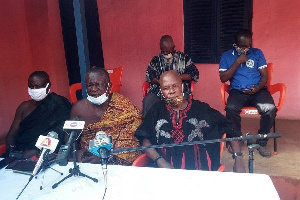 Nana Akrofa II, (middle) addressing the conference