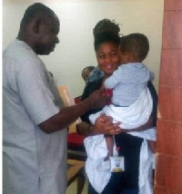 Little Jaden and his mother visits Protozoa after the surgery