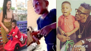 Shatta Wale's wish to see his son Majesty was finally granted by Michy yesterday