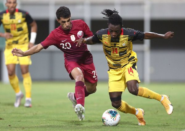 Gideon Mensah was in action for Ghana against Qatar on Monday, October, 12