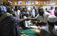 File photo: The Gonja Chief in handsake with Akufo-Addo