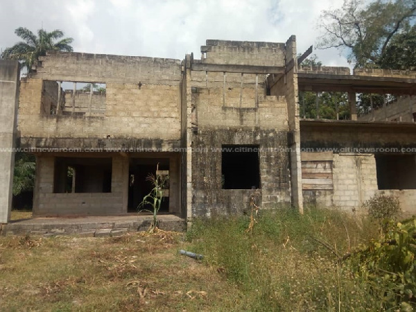 Ashanti Regional uncompleted Press Centre now a maize farm
