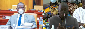 Deputy Transport Ministers-Designate Hassan Tampuli, and Frederick Obeng Adom