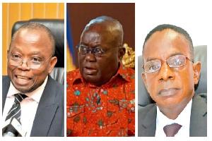 Domelevo, Akufo-Addo and new Auditor General Johnson Akuamoah Asiedu