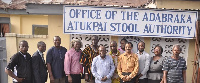 Adabraka Atukpai Mantse(5th from left) with members of his educational council and reps from AUCC