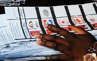 File photo of a ballot paper