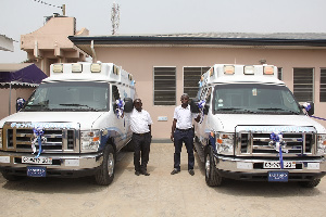 The 307 ambulances were commissioned on Wednesday by the president
