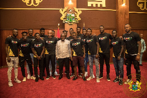 President Akufo Addo With The Black Stars