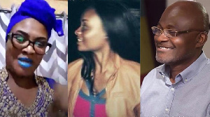 Kennedy Agyapong with his daughter and ex-fianc
