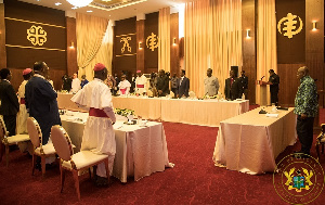 President Akufo-Addo met with the clergy to pray over coronavirus