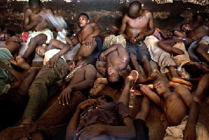File photo of prisoners in their ward