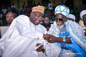 Vice President Dr. Mahamudu Bawumia with the National Chief Imam