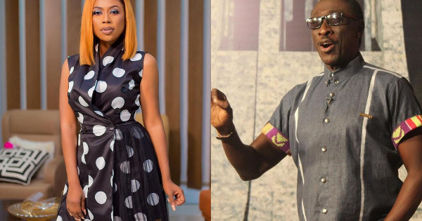 Ghanaian actress and TV host, Selly Galley with Comedian, KSM