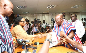 Nana Addo Dankwa Akufo-Addo submits his presidential nominee form to EC
