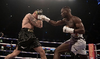 Joshua Buatsi (R) controlled of the fight from start to finish but could not knockout Grafka (L)